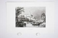 gravure par Rouargue, Saint Florent le Vieil et la Loire vers 1860, 49