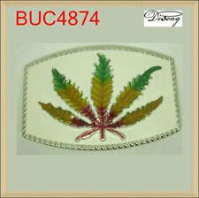 Cannabis Marijuana Hemp Leaf Pot Belt Buckle