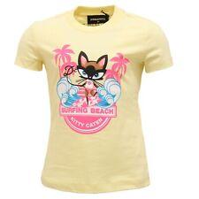 3896T maglia bimba DSQUARED2 giallo multicolor t-shirt kid