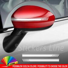 Adesivi calotte specchietti Fiat 500 Stile Abarth strisce adesive specchietto