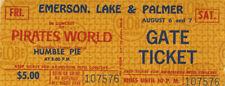 HUMBLE PIE, EMERSON LAKE & PALMER 1971 Concert Ticket
