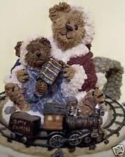 Boyds Bear Conductor Chugalong Little Caboose Music Box