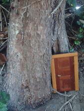 Handmade Wooden rustic Fairy Door 15.5cm Natural Faerie 100% Recycled wood pagan