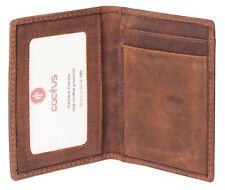 Cactus & ID Holder tarjeta de cuero delgada Hunter envejecido con Protección RFID 632