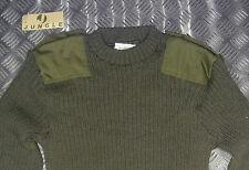 Genuine British Army, Green Commando Wool Jumper. Crew Neck. Very Warm All Sizes