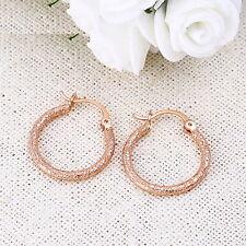 "9ct 9K Rose "" Gold Filled "" Prom Girl 22 - 50mm Earring Xmas Birthday 584"
