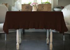 100% Egyptian Cotton Side Ruffle 1 Pc Rectabngular Tablecloth Dinner Table Linen