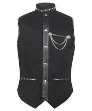 Veston gilet noir avec chaîne avec poches élégant gothique steampunk