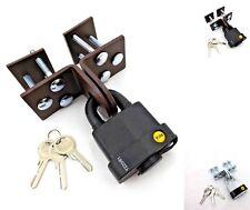 Locking Security  HASP And Yale Padlock  Door Cabinet Garage Shed Van Cupboard K