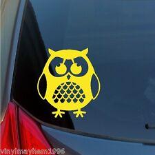 Wise male Owl vinyl sticker decal car truck suv jeep glass folder wall home hoot