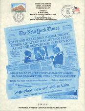 CE30 Feuillet Signature Traité Paix Israël-Egypte 1979