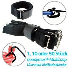 Multiloop Klettkabelbinder mit beidseitigen Flausch Universal Kabelbinder Klett