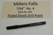"""7/64"""" No.4 Millers Falls Fluted Bit Push Drill Bit Point  , Fits Goodell-Pratt"""