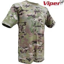 VIPER TACTICAL V-CAM T SHIRT MENS 2-3XL 100% COTTON BRITISH ARMY CADET MTP CAMO
