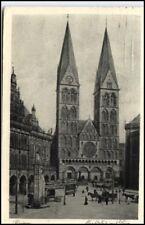 BREMEN 1926 Dom Markt Bedarfspost-Postkarte -> Kiel