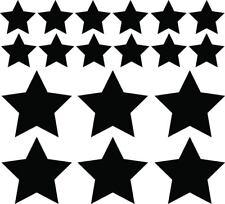Stars Bundle Decals Group Set of 18 Window Bumper Sticker Car Decor Star Space
