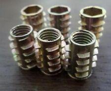 FILO 10X M5 L = 10 - 13 mm DADO INSERTO IN LEGNO MDF Chip bordo zigrinato filettato 5 mm