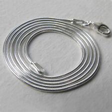 """Italiano Serpiente Cadena Collar de plata esterlina sólida, ancho 1.1mm - de 16"""" a 20"""