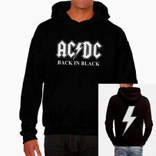 Sudadera AC/DC back in black hoodie sweatshirt Rock Heavy