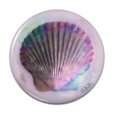 Shell Watercolor Beach Sand Tropical Compact Pocket Purse Hand Makeup Mirror