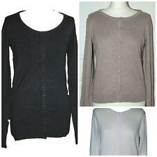 New Ex H&M Women Ladies  Fine knit Cardigan Black White Beige Size: XS S M L XL