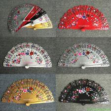 Spanish Style Hand Painted Flower Fan Wood Fan Custom Dance Fan Wedding Gift