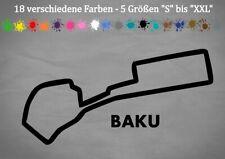 BAKU Formel 1 Rennstrecke Track Layout Umriss Aserbaidschan 18 Farben 5 Größen