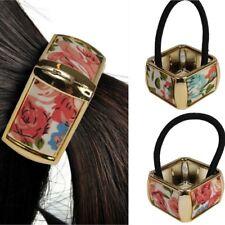 GOMMA per capelli fiori design quadrato GLITTER trecce capelli Scrunchy Anello HAIR rettangolare