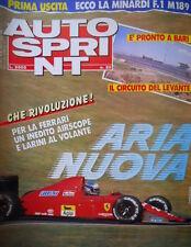 Autosprint 20 1989 3° dispensa libro F1 Monaco. Nuova la Minardi F1 189