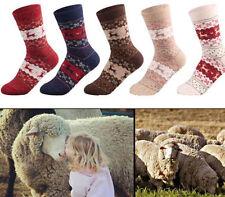 2016 Christmas Gift Snowflake Deer Women Wool Socks Warm Winter Sock Comfortable