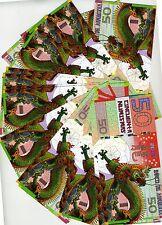 LOT, Kamberra, POLYMER, 20 x 50 Numismas, China Lunar Year, 2012, UNC > Dragon