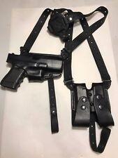 Premium Leather Black Shoulder holster for Glock made in USA