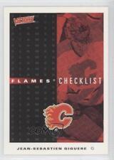 1999 Upper Deck Victory #43 Flames Checklist Calgary Jean-Sebastien Giguere Card