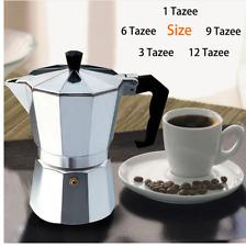 Stove Top Espresso Coffee Maker Percolator Aluminium 1cup 3cup 6cup 9cup 12cup
