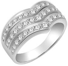 Right Hand Engagement Anniversary Ring Si1 G 1.01Ct Round Diamond 14K White Gold