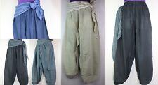 Vintage Trousers Hippie Wideleg Boho Harem Festival Pants Aladdin Yoga Ninja S25
