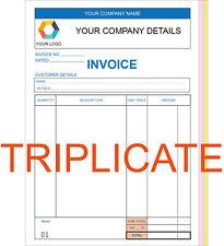 Personnalisé triple A5 facture livre/pad/impression ncr/réception/commande
