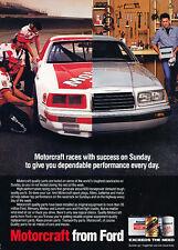 1986 Ford Thunderbird - Motorcraft - Classic Vintage Advertisement Ad D74
