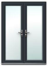 Grey uPVC French Doors / Patio Doors / IN STOCK / FREE DELIVERY (#102)