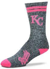 Kansas City Royals Baseball Pink 2 Stripe Melange Crew Socks