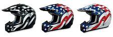 AFX Motocross Dirtbike Offroad Flag Helmet - Pick Size / Color
