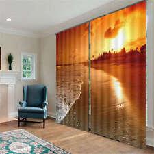 Quiet Beach And Seashells 3D Curtain Blockout Photo Print Curtains Fabric Window