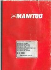 Manitou Maniscopic Telescopic Handler MLT 630 634 731 - MT 732 932 Ops Manual