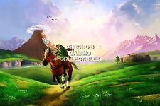 RGC Huge Poster - Legend of Zelda Ocarina of Time 3D N64 Nintendo 3DS - ZELO03