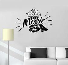 Vinyl Decal Movie Popcorn Cinema Film Art Wall Stickers Mural (ig3316)