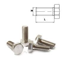 Viti titanio m12 x 1.5 80 - 100 ESAGONALE DIN 933 grado 5