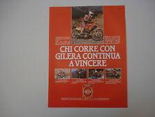 advertising Pubblicità 1989 MOTO GILERA RC 600/RC TOP RALLY