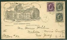 CANADA 1898, Acadia Seminary Hotel advertising cover
