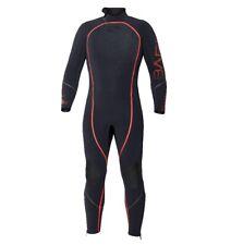 Bare 3mm Reactive Full Jumpsuit Wetsuit Mens Scuba Diving Dive Suit Black/Red