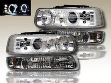 Chevy Silverado 99-02 Halo LED Headlights+Bumper Lights